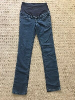 H&M Mama Maternity Skinny Jeans - Dark Wash - Size 6 - Full Belly Panel