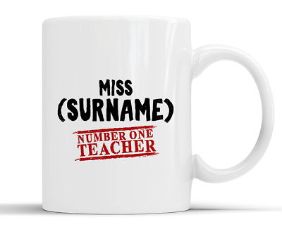 Personalised Number One Teacher Gift - 10oz White Ceramic Mug