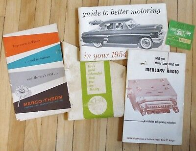 Original Owners Manual 1954 Mercury Radio And Merco-Therm Booklets In Sleeve