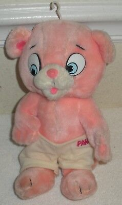 """Vintage 1984 Mighty Star Pink Panther and Sons 9"""" Plush PANKY w/ Hook Hang"""
