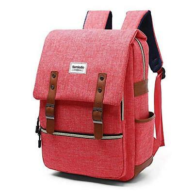 Kemladio Vintage Backpack 15.6 Inch Slim Laptop Bag College Backpack School Bag