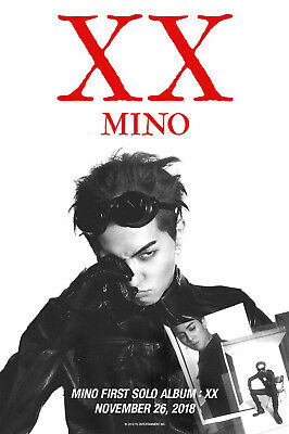 SONG MINO FIRST SOLO ALBUM [XX] CD+POSTER+2eaBook+Sticker+Polaroid+Mark+F.Poster