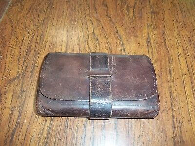 Vintage Antique Leather Billfold Wallet pouch 1800's ???? Bifold