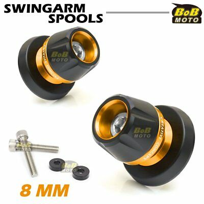 Swingarm Spools Gold 8mm CNC Rear For Honda CBR600RR 03-08 09 10 11 12 13 14 15