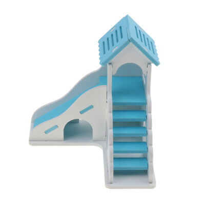Hamster Guinea Pig Toy House Hideout Exercise Toys With Ramps and Ladders