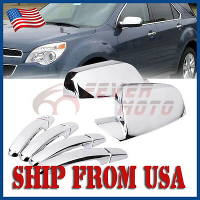 US Chrome Side Door Handle Mirror Cover Fit 2010-16 Chevy Equinox GMC Terrain FM