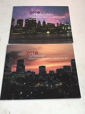 2010 us mint uncirculated coin set 28 coins Philadelphia and Denver coins