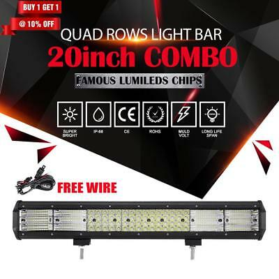 20inch 2016W PHILIPS QUAD-ROWS Spot Flood Combo LED Light Bar For FORD FALCON AU