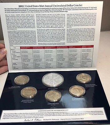 2012 US Mint Annual Uncirculated Dollar 6 Coin Set