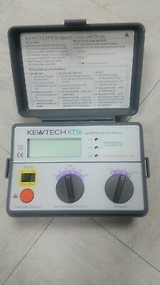 Kewtech Kt56 Digital Rcd Tester With Dc Test Calibrated + 90 Day Warranty