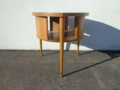 Mid Century Modern Furniture John Keal Brown Saltman Table Wood Accent End Stand