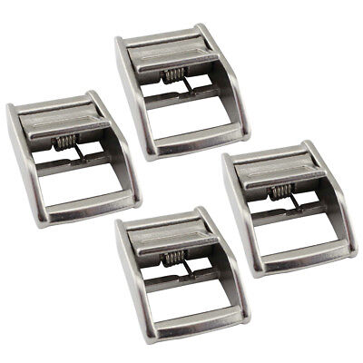 4pcs 25mm Marine 316 Grade Stainless Steel Cam Buckle for Tie-Down Straps
