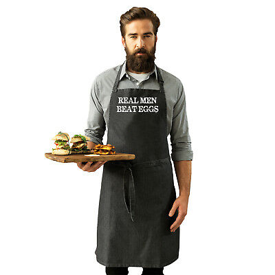 Funny Novelty Apron Kitchen Cooking - Real Men Beat Eggs