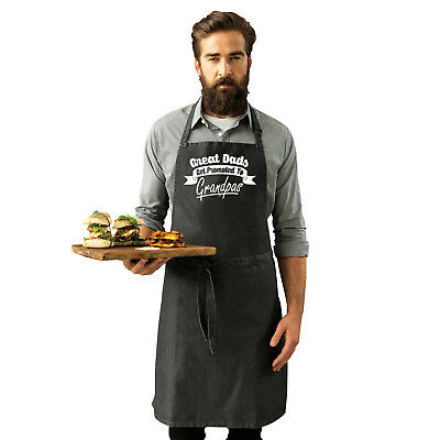 Funny Novelty Apron Kitchen Cooking - Great Dads Get Promoted