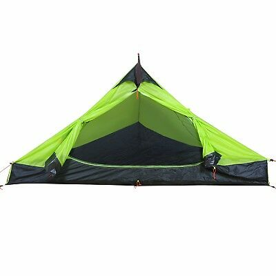 Lightweight 1 Person Backpacking Tent Camping Hinking Tent Shelter Green UK