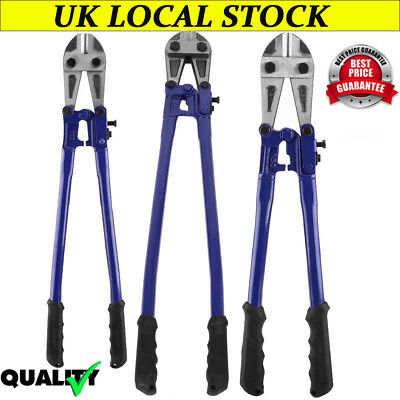 """18"""" 24"""" 36"""" Blue Bolt Cutters Heavy Duty Croppers Cable Chain Lock Cut Padlock"""