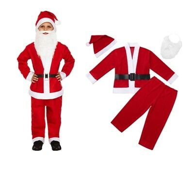 PACK OF BOYS SANTA CLAUS COSTUME BUDGET FATHER CHRISTMAS SUIT FANCY DRESS LOT