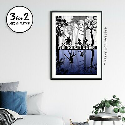 Stranger Things Upside Down TV Show Poster on 100% Cotton Paper - Christmas Gift