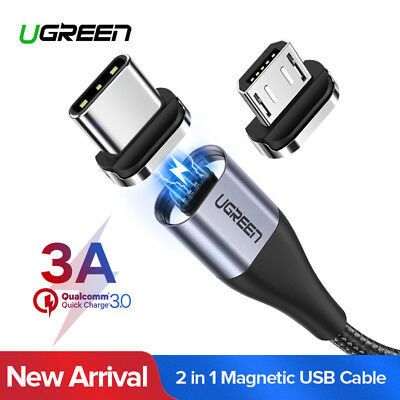 Ugreen USB2.0 Fast Charging Magnetic Micro USB Cable Type C Adapter for Samsung
