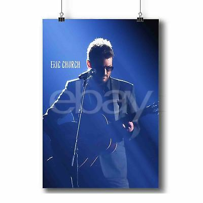 """Eric Church Chief Sinners Like Me Drink In My Hand Creepin 9 Art Poster 36/""""N3584"""