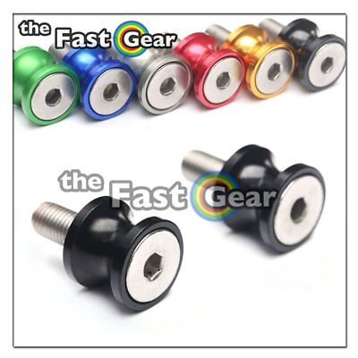 CNC Black Swingarm Spools Kit For Kawasaki ZX-6R 636 13-18 14 15 16 17
