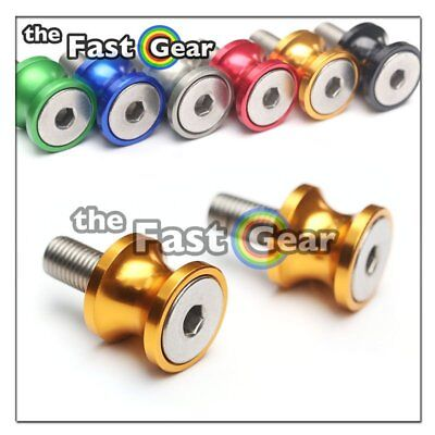 CNC Gold Swingarm Spools Kit For Kawasaki ZX-6R 636 13-18 14 15 16 17