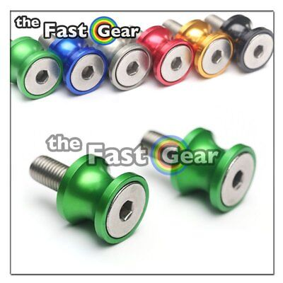 CNC Green Swingarm Spools Kit For Kawasaki ZX-6R 636 13-18 14 15 16 17