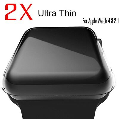 Case Cover,For Apple Watch Series 1 2 3 4 iWatch Protective Crystal Clear Case
