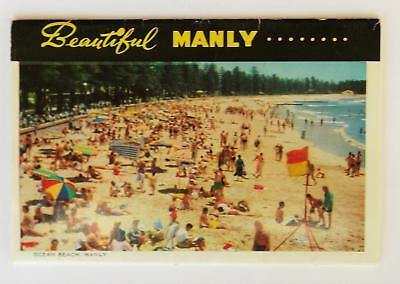 Vintage Souvenir Fold Out Postcards. Beautiful Manly By Capt. Frank Hurley.