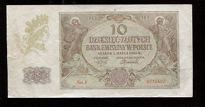 10 Zlotych Generalgouvernement Polen 1940 Ro.574 (lII)