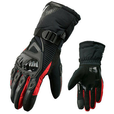 Blade Leather Waterproof Thermal Winter Motorcycle Motorbike Gloves Warm Black