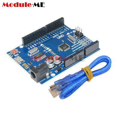 UNO R3 ATMEGA328P-16AU CH340G Micro USB With Cable Board For Arduino NEW UK