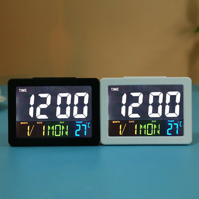 Digital LCD Station Date Desktop Desk TableTemperature Travel Alarm Mini Clock