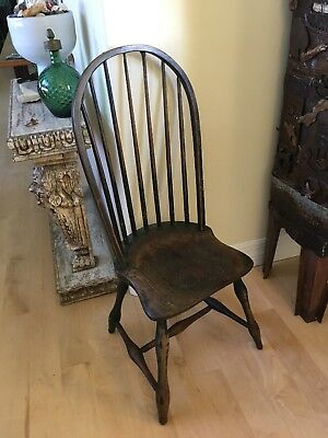 Primitive Bow Back Windsor Bow Back Bent Wood Antique Chair-amazing Farmhouse