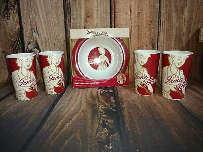 Vintage IH International Harvester Goodall Irma Harding Tumblers and Bowls Retro
