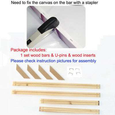 Stretcher Wood Bar Strip Craft Assembly Durable Practical DIY For Canvas Art