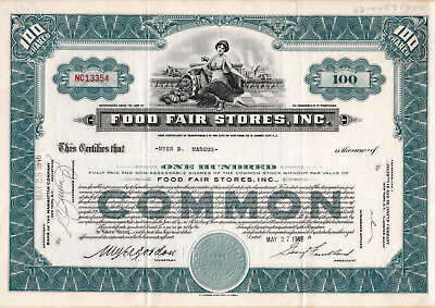 Food Fair Stores , Inc. share 1946 USA Aktie United States of America
