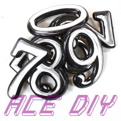 """2 """" Self Adhesive Above Door Numbers Chrome Finish Number Letter House Apartment"""