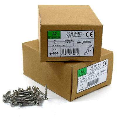 Stainless Steel Wood Screws | A2 Pozi Countersunk Self Tapping Chipboard Screw