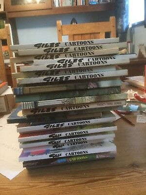 Giles cartoon annuals 25 different. Generally reasonable condition