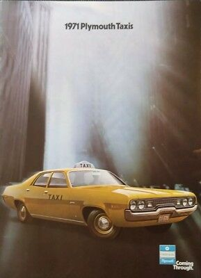 1971 Plymouth Taxi Dealer Sales Brochure Satellite Fury 71 Cab Taxicab