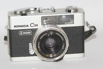 Konica C35 Automatic - 1971 35mm Compact Rangefinder Camera - Working