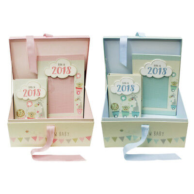 JVL Baby Born in 2018 Keepsake Gift Box Including Photo Frame and Album
