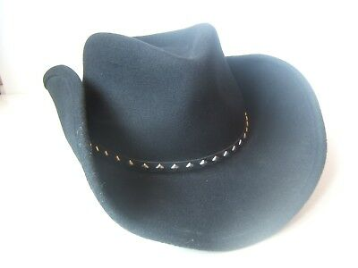 7f92bfb379762 Lite Felt Packable Water Repellant Diamonte Cowboy Hat Large Black Renegade  Cap