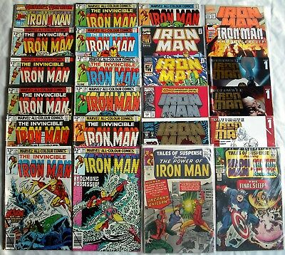 Marvel Iron Man 24 Comic Mixed Lot: Including Issue #1's and Annuals, NM, VF, F