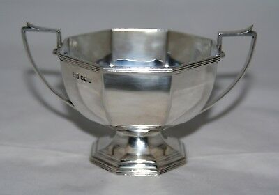 Art Deco Sterling Silver 2 Handled Sugar Bowl - Walker & Hall, Sheffield 1926