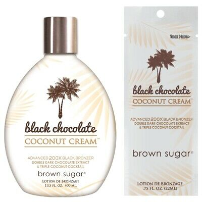 Tan Incorporated Black Chocolate Coconut Cream Bronzer sunbed tanning lotion