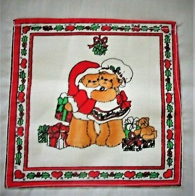 HTF Vintage  Enesco Lucy And Me Christmas Cloth Apron