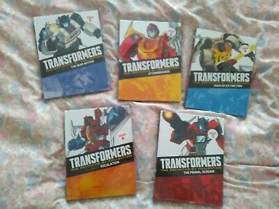 Job lot 5 New/Sealed Transformers The Definitive G1 Collection Comics