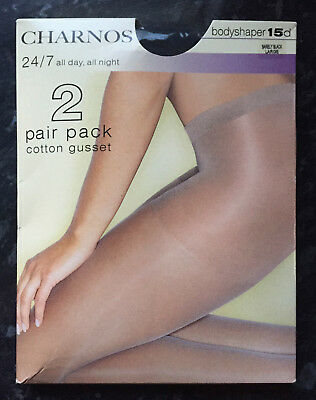Charnos 24//7 hold ups • 2 pair pack • Stock Clearance • FREE POSTAGE!